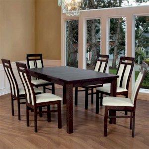 Stół Fornir Max 6 + 6 krzeseł Werona (zest. FX7)