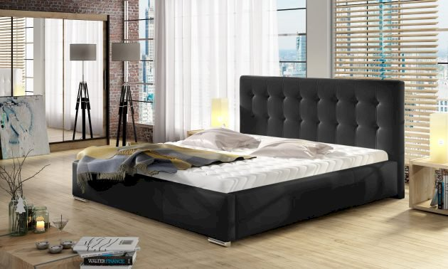 (140x200) PROMOCJA Łóżko tapicerowane Dolores + Stelaż + Materac