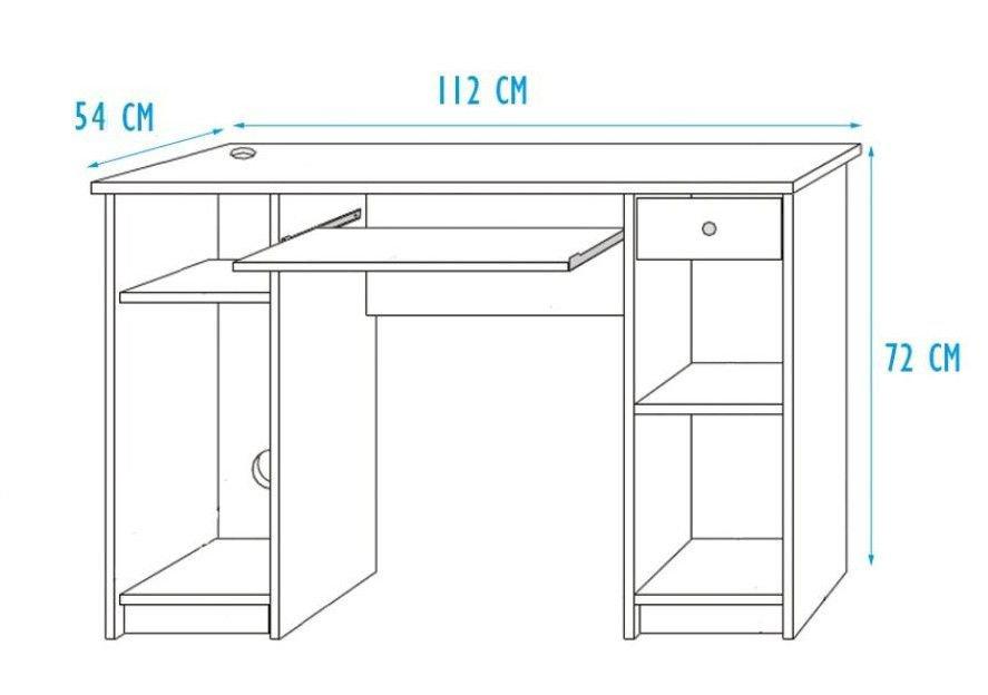 Łóżko piętrowe Unit z biurkiem P5DS1T03