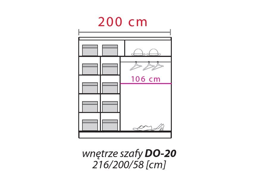Szafa przesuwna Dome DO7-20