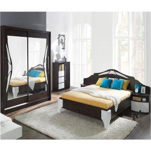 Sypialnia Dome Sosna Laredo + Biały Połysk