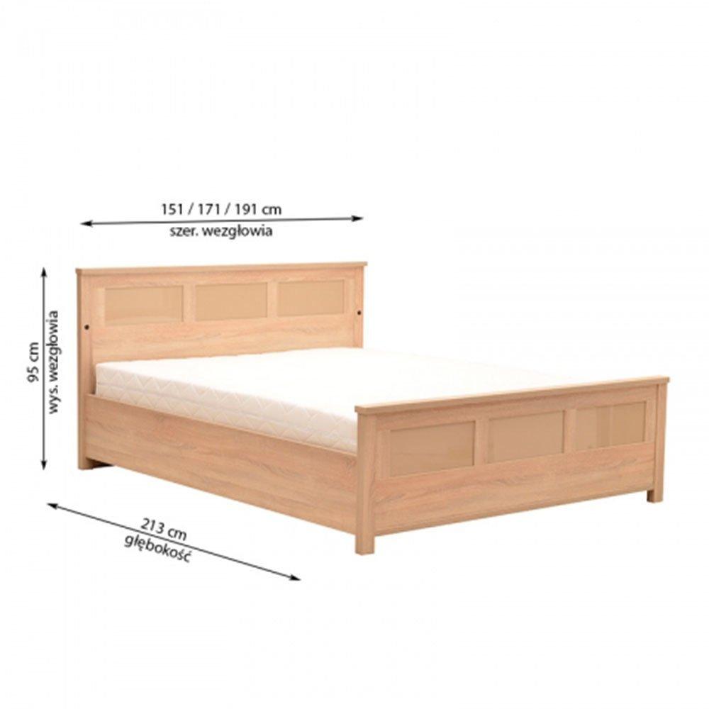 Łóżko Cremona 140x200 z pojemnikiem