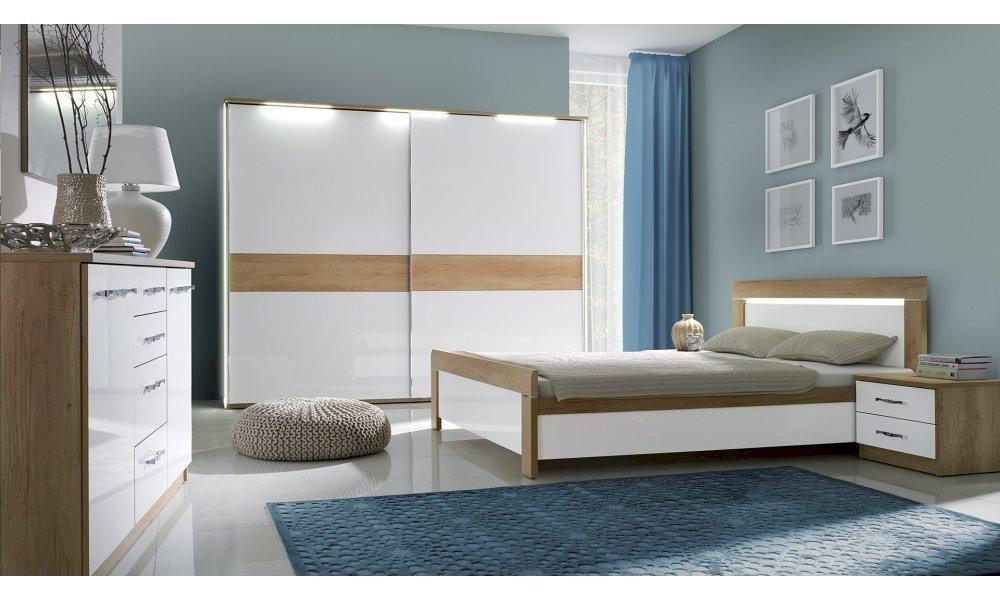 Łóżko Manhattan 140x200 z pojemnikiem