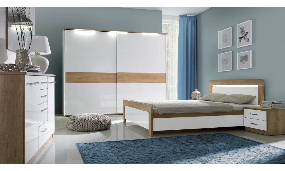 Łóżko Manhattan 180x200 z pojemnikiem