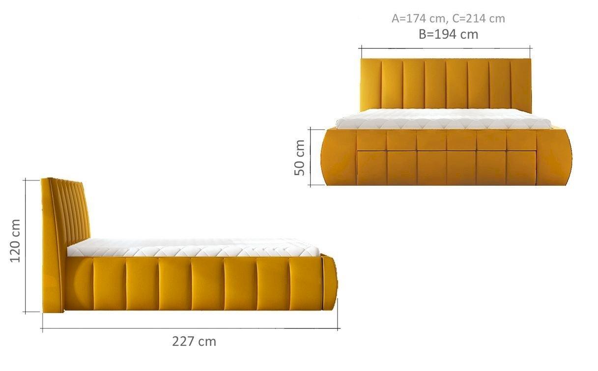 Łóżko tapicerowane Roma 180x200