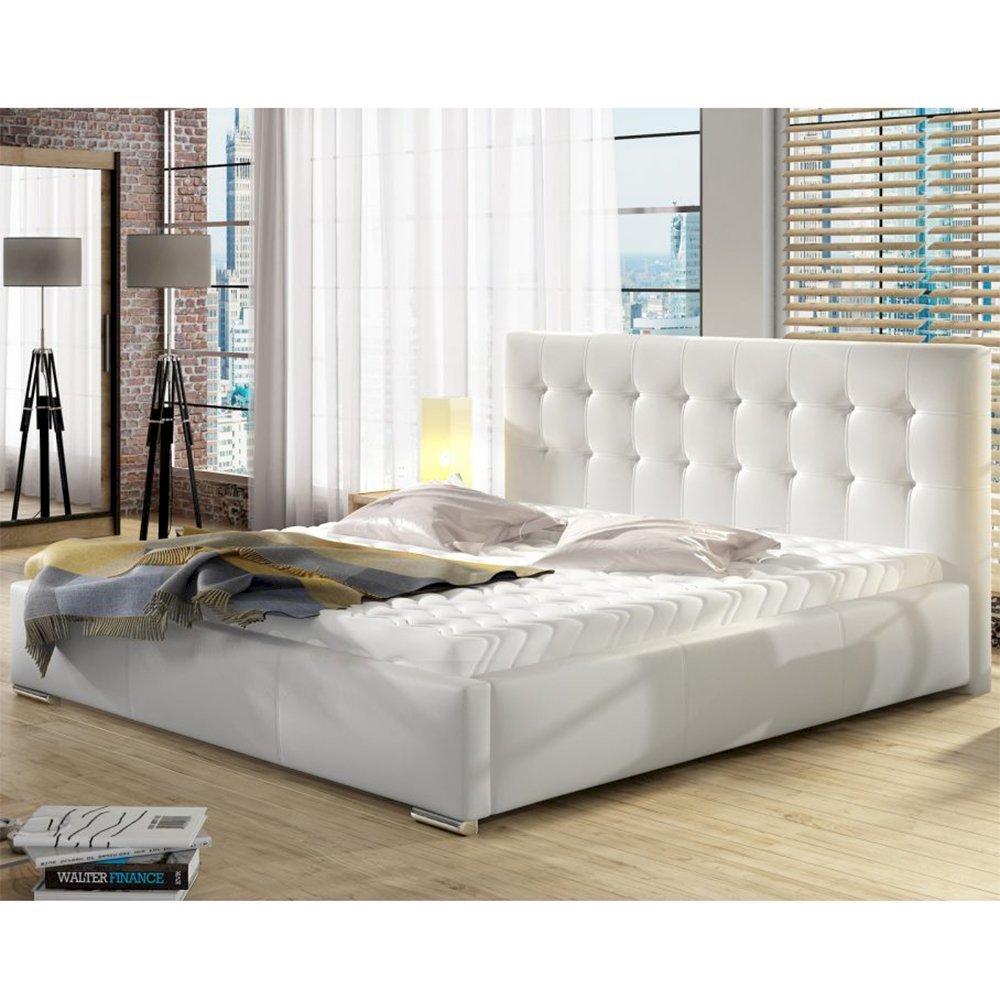 140x200 Promocja łóżko Tapicerowane Dolores Stelaż Materac Pojemnik