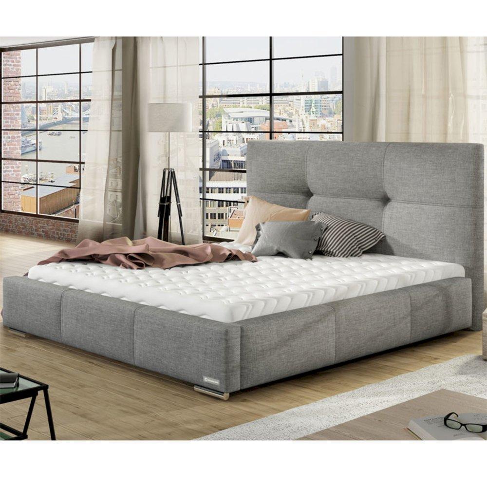 140x200 Promocja łóżko Tapicerowane Lily Stelaż Materac Pojemnik