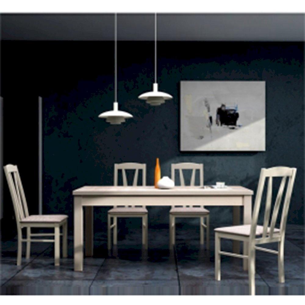 Stół STL62/1 + 4 krzesła KT15 (zest. DM14)