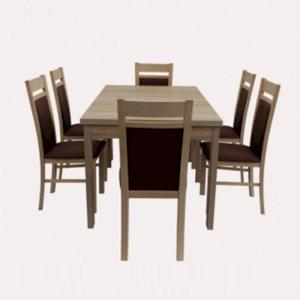 Stół STL63/1 + 6 krzeseł KT25 (zest. DM11)