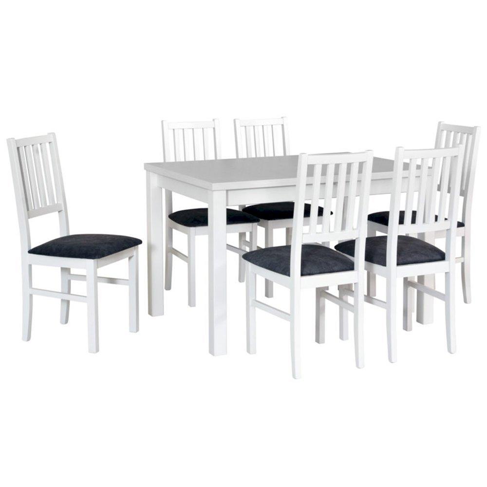 Stół Max V + 6 krzeseł Nilo VII (zest. DX26)