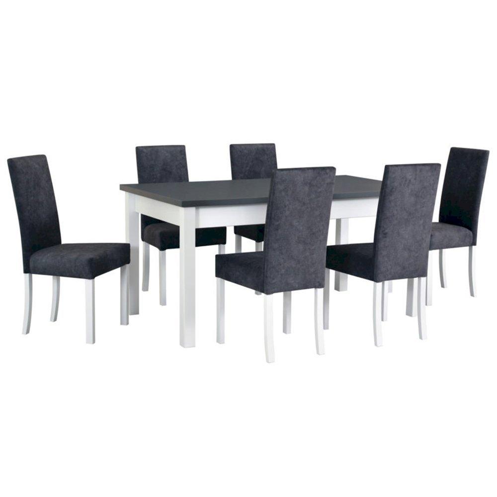 Stół Modena I + 6 krzeseł Roma II (zest. DX27)