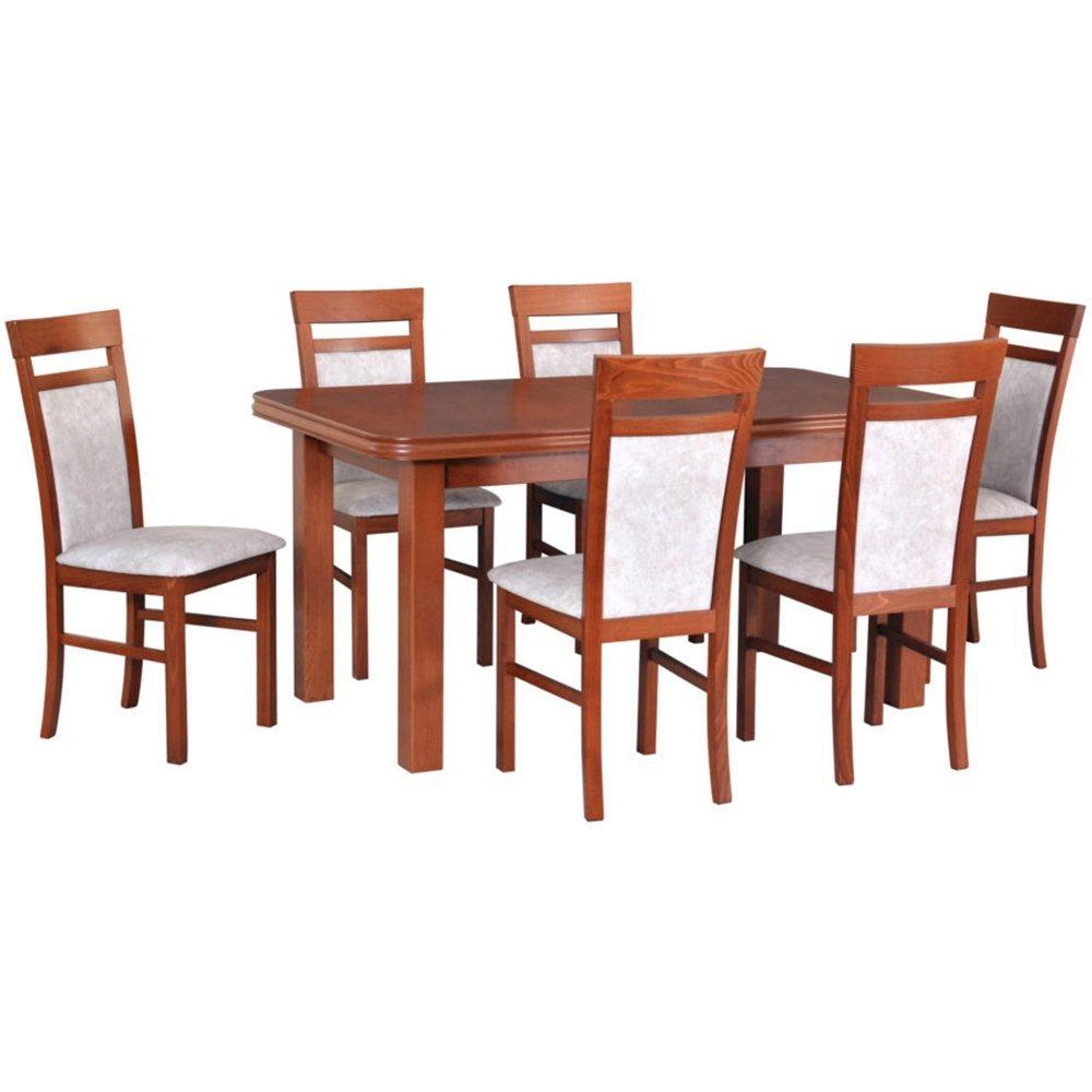 Stół Wenus V + 6 krzeseł Milano VI (zest. DX30)