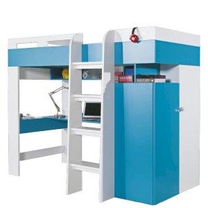 Łóżko piętrowe z szafą i biurkiem Mobi MO20