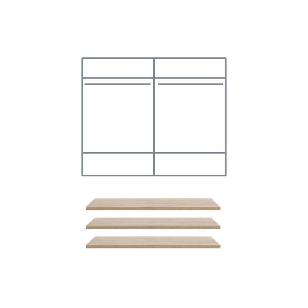 Półki do szafy Margo 2D