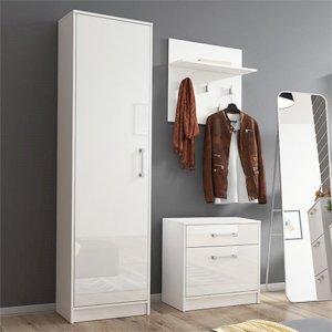 Garderoba Ada Biały + Biały Połysk
