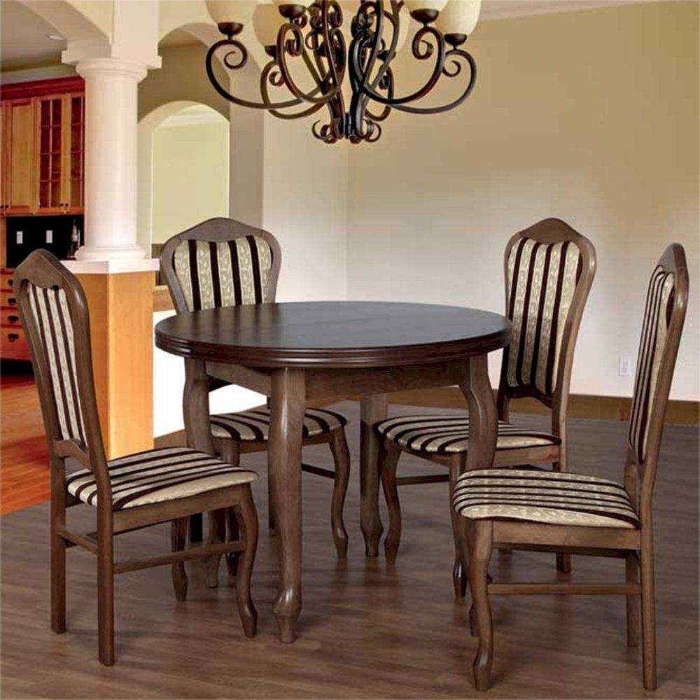 Stół Fornir 5 + 4 krzesła Natalia (zest. FX29)