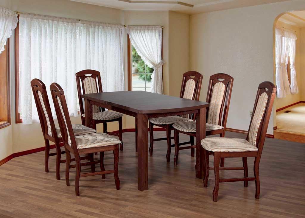 Stół Łuk 11 + 6 krzeseł Łuk (zest. FX14)