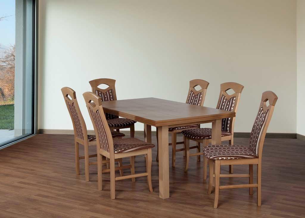 Stół Fornir 2 + 6 krzeseł Kamil (zest. FX16)