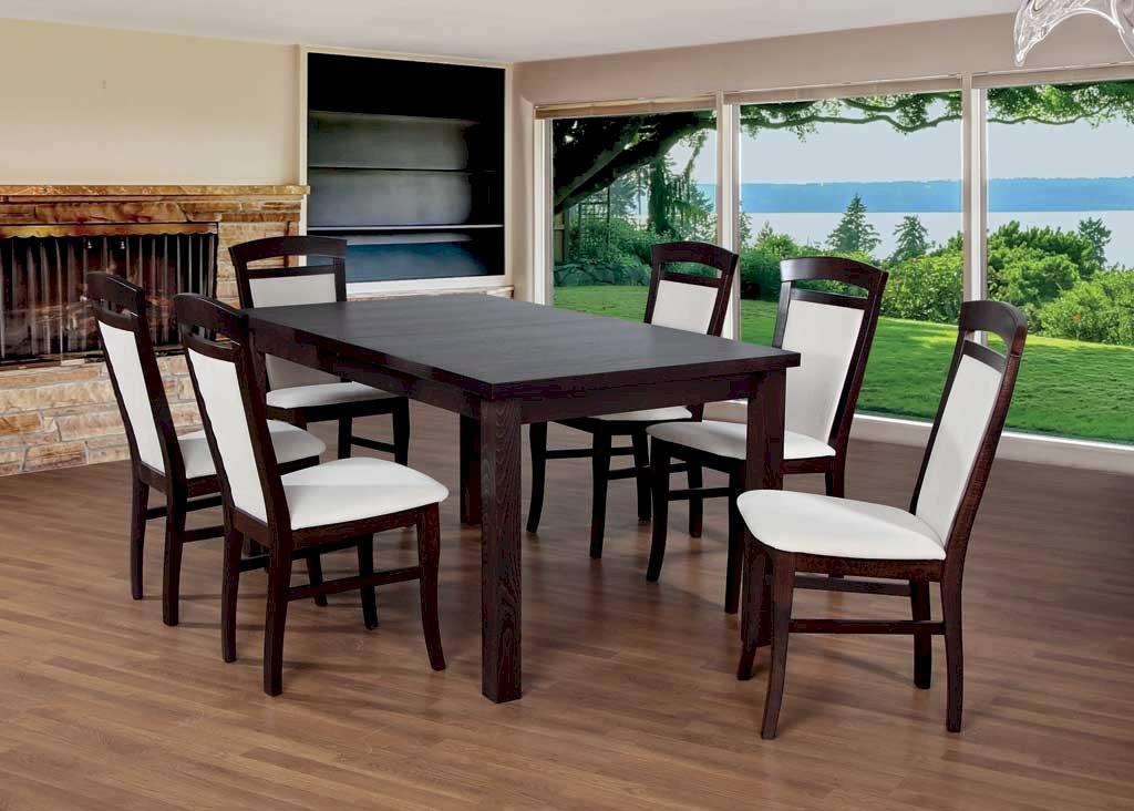 Stół Fornir Max 6 + 6 krzeseł Tolek (zest. FX13)
