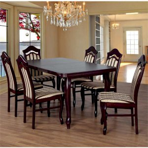 Stół Fornir 3 + 6 krzeseł Wojtek (zest. FX23)