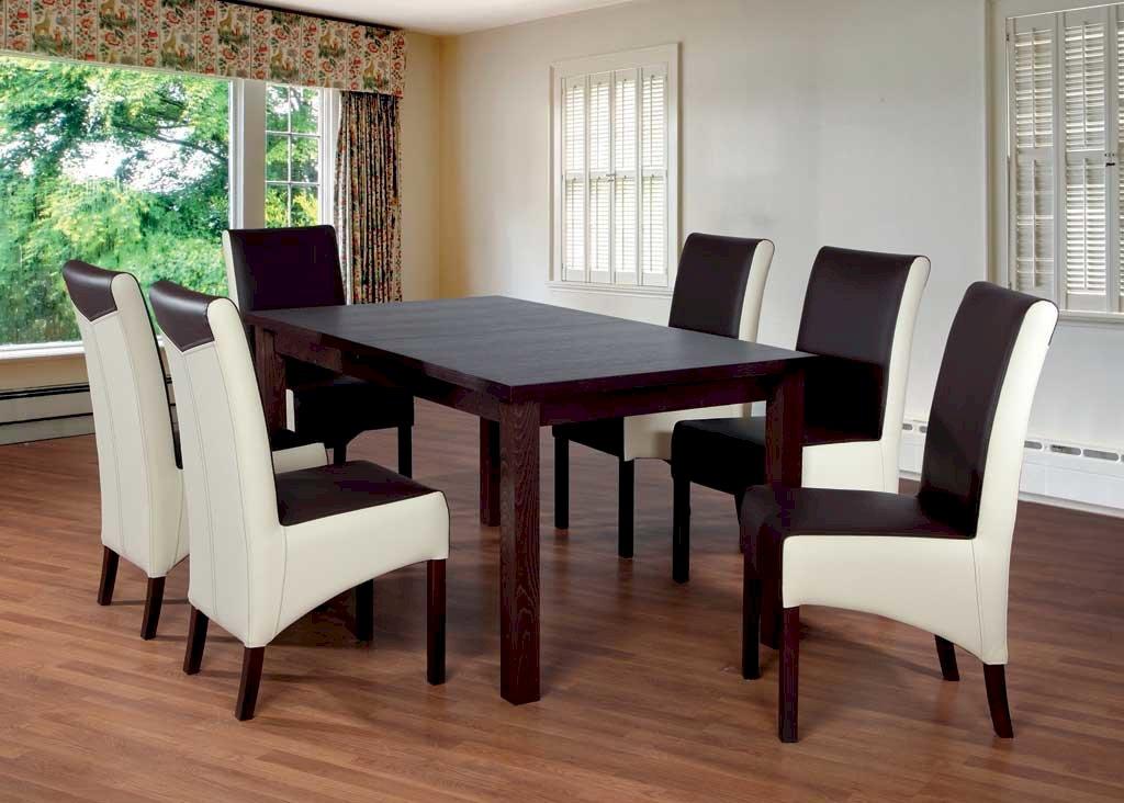 Stół Fornir Max 6 + 6 krzeseł Kinga (zest. FX5)