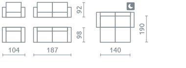 Zestaw wypoczynkowy Loft 3+1