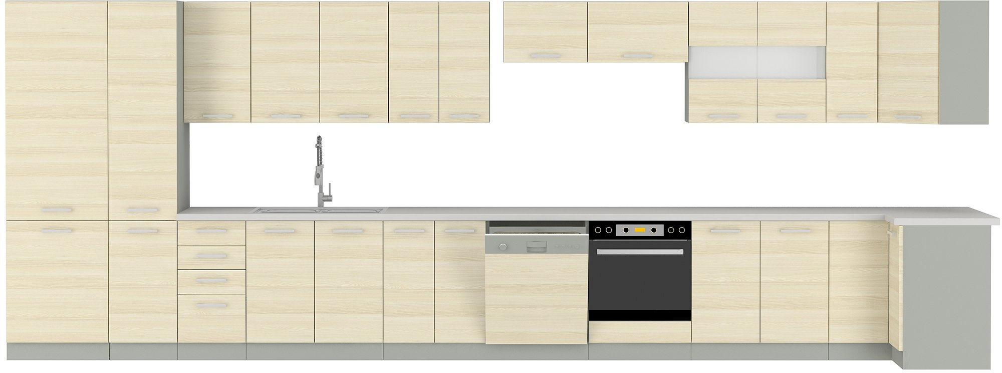 Szafka kuchenna Eko Akacja 40 D 4S BB z szufladami