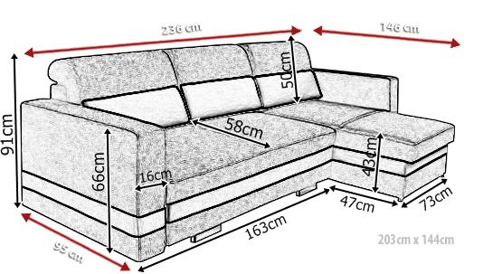 Narożnik tapicerowany R-Mini