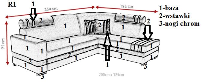 Narożnik tapicerowany R1