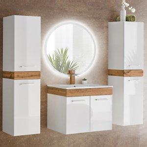 Zestaw mebli łazienkowych Aria z umywalką