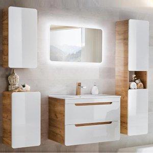 Zestaw mebli łazienkowych Aruba z umywalką