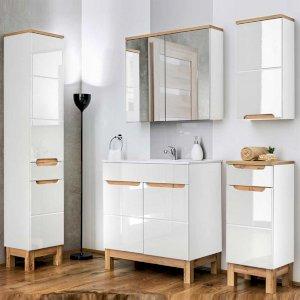 Zestaw mebli łazienkowych Bali Biały 60 cm z umywalką