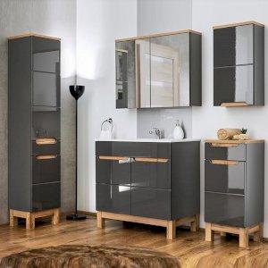 Zestaw mebli łazienkowych Bali Grey 80 cm z umywalką