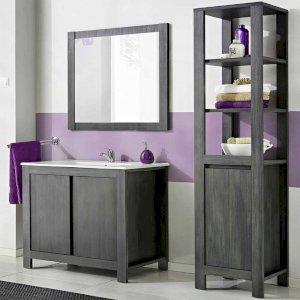 Meble łazienkowe Classic Gray 80 cm z umywalką