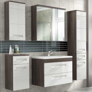 Nowoczesne meble łazienkowe Cosmo II 80 cm z umywalką