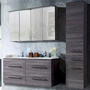 Nowoczesne meble łazienkowe Cosmo 120 cm z podwójną umywalką