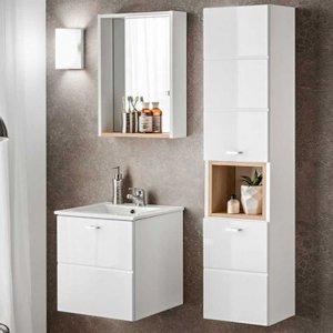 Zestaw mebli łazienkowych z umywalką Finka White