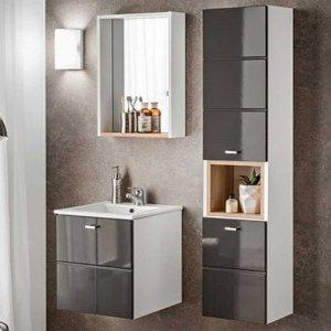 Zestaw mebli łazienkowych z umywalką Finka Grey