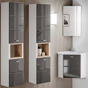 Zestaw mebli łazienkowych z umywalką narożną Finka Grey