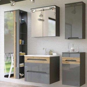 Zestaw mebli łazienkowych Galaxy Grey 60 cm z umywalką