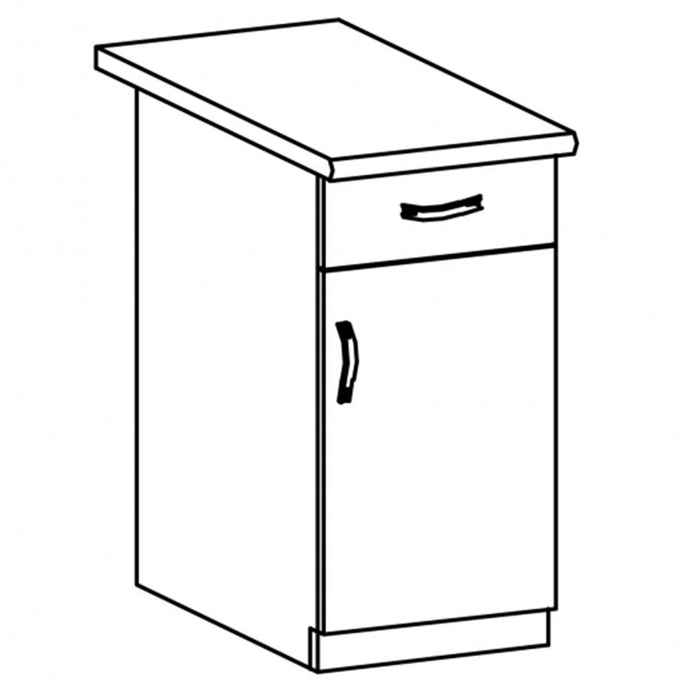 Sycylia - D40S1 - szafka dol. 40 1 drzwi 1 szufl. Orzech Milano