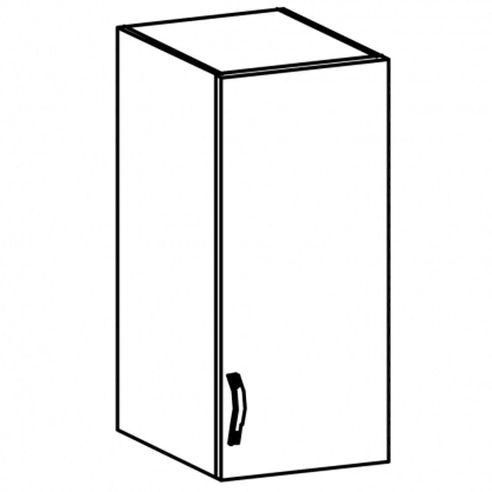 Sycylia - G30S - szafka wisząca drzwi ze szkłem Orzech Milano