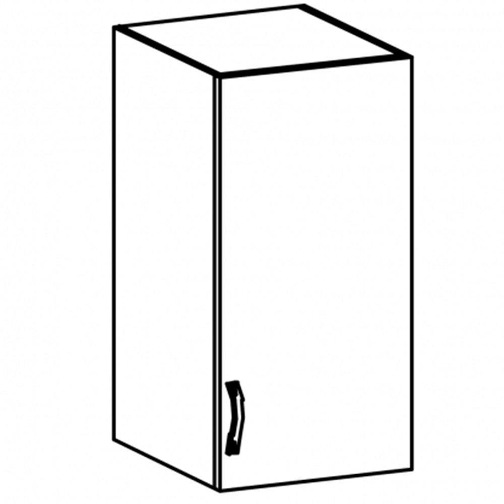 Sycylia - G40S - szafka wisz. 40 drzwi ze szkłem Orzech Milano