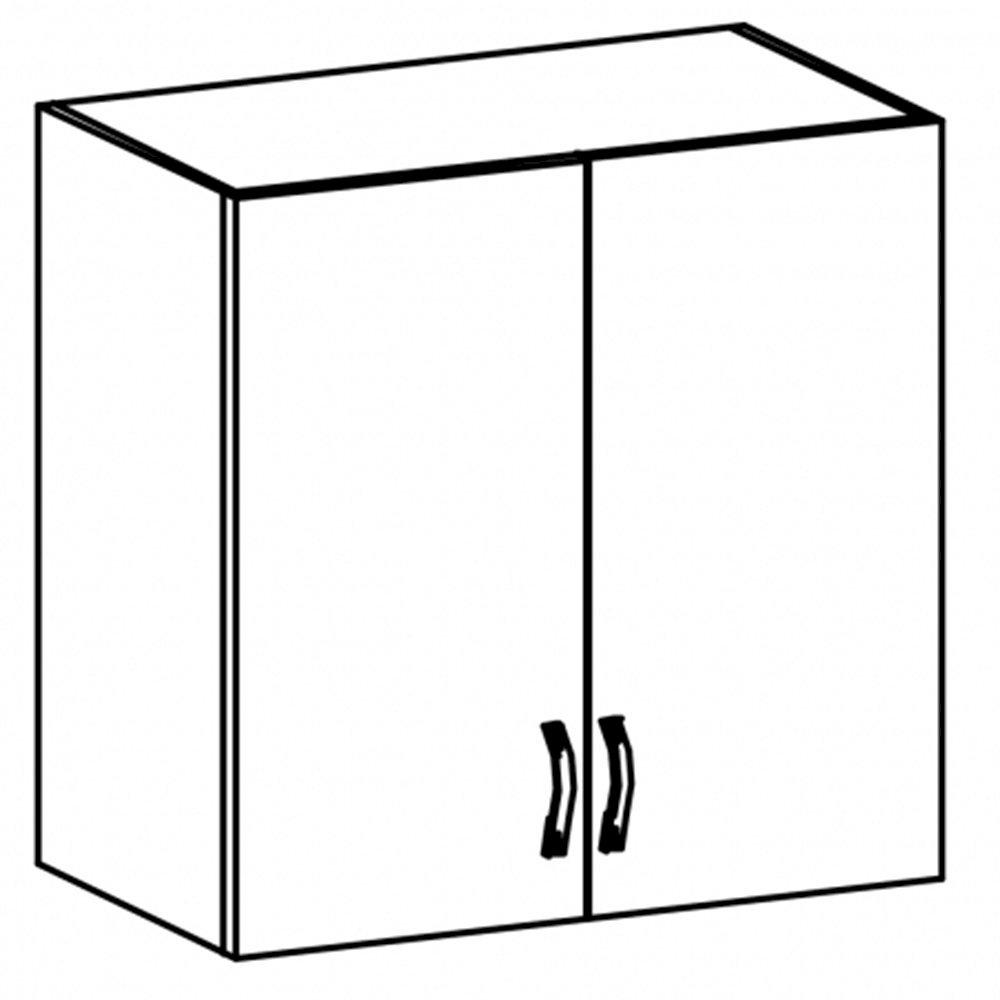 Sycylia - G80S - szafka 2 drzwiowa wisząca 80 ze szkłem Orzech Milano