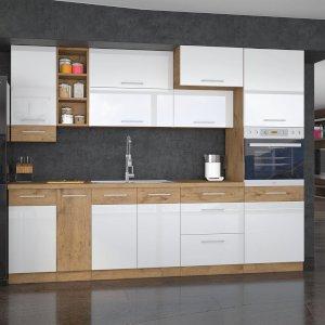Meble kuchenne Vigo Biały Połysk zestaw 255/72