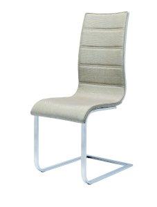 K104 krzesło beżowy/biały tkanina (2p=4szt)