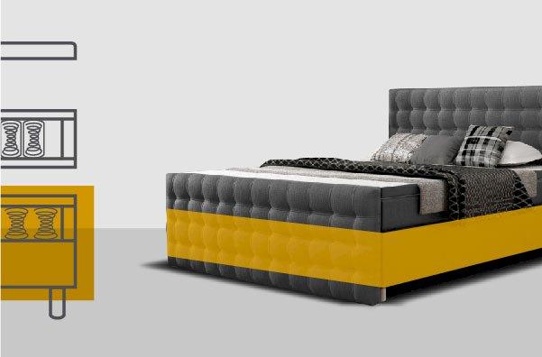 Łóżko kontynentalne New York 160x200 + Hard Top