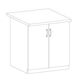 Sycylia - D80 - szafka dolna 2 drzwi