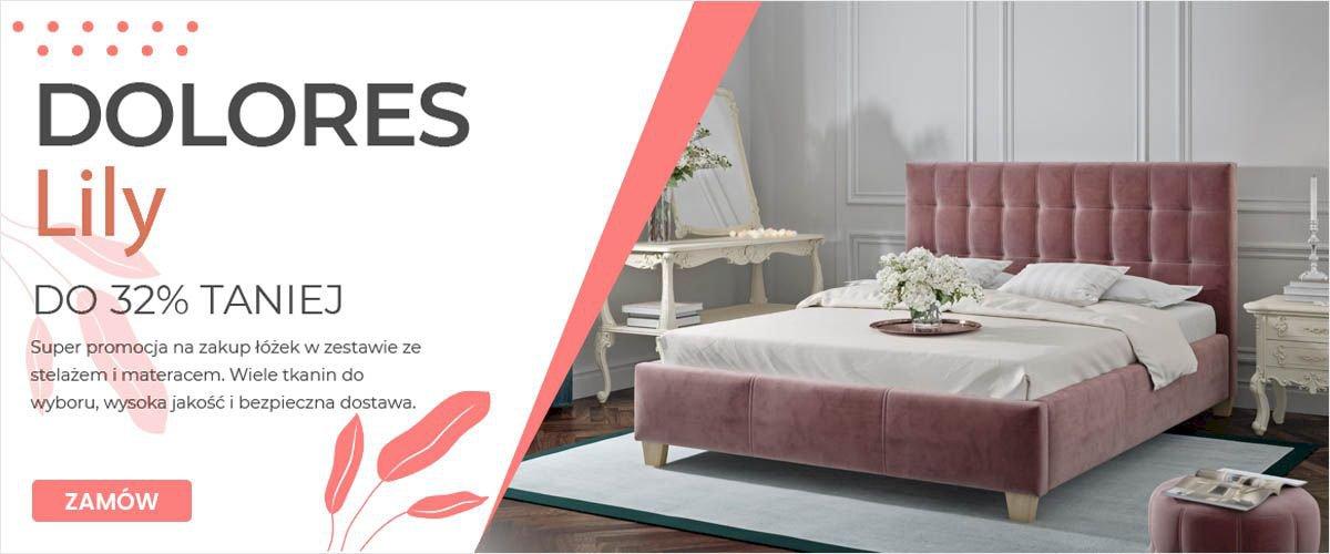 Łóżka Dolores i Lily w promocji do -32%!